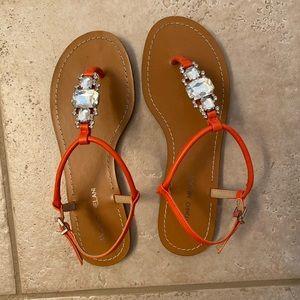 NEW Antonio Melani orange sandals size 8.5